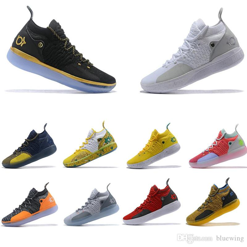 c9c212404caeac 2019 New KD 11 EP White Orange Foam Paranoid Oreo ICE Basketball Shoes  Original Kevin Durant XI KD11 Mens Trainers Sneakers Size 7 12 Mens Sneakers  ...
