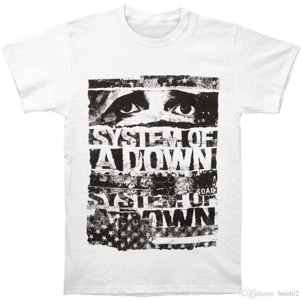 System Of A Down Mens Torn T Shirt Xx Large White Fashion Men T