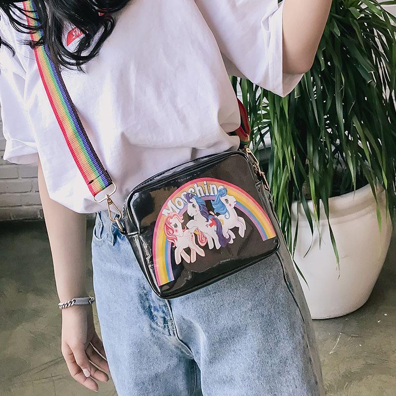 d280a66c3b21 2019 Fashion 2018 New Fashion Women Shoulder Bags Harajuku Style Mini  Square Bag Rainbow Pony Female Small Crossbody Bags For Women Cheap Handbags  Cheap ...