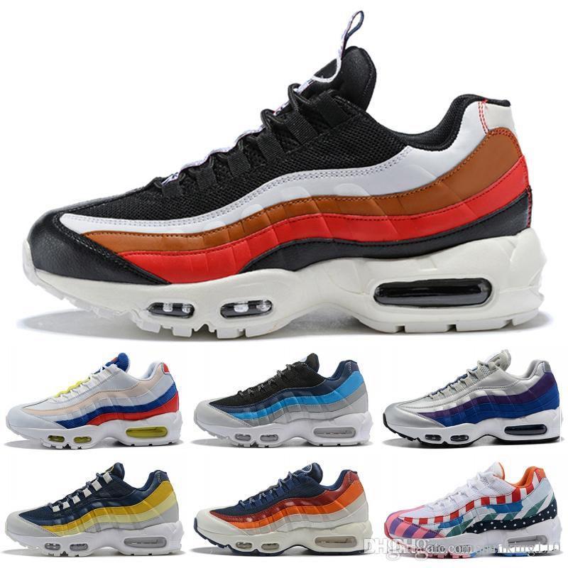 best sneakers 9eb7b 0584d nike air max 95 airmax 2019 novos homens Air casual calçado de corrida de  ouro preto vermelho chaussures branco designer trainer Sports Mens Maxes ...