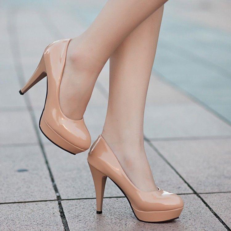 Women Pumps Fashion Classic Patent Leather High Heels Shoes Nude Sharp Head  Paltform Wedding Women Dress Shoes Plus Size 34 42 Cheap Shoes Dansko Shoes  From ... 04774c422b5c