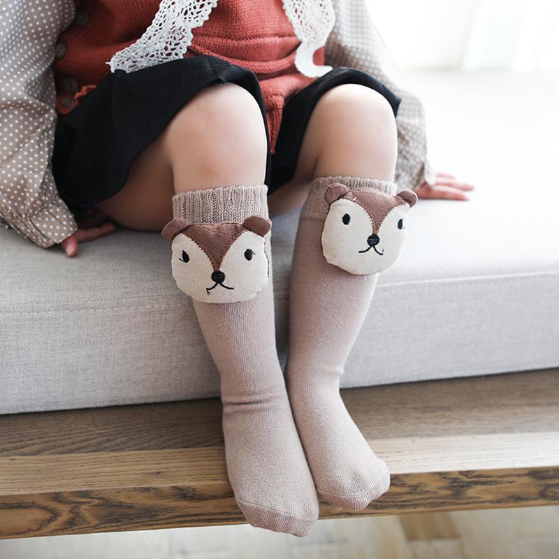 5cdf0d4c7 Cartoon Cute Animal Cat Bear Baby Long Socks Newborn Knee High Sock Infant  Girl Boy Stuff Tiny Cottons 2019 Spring And Autumn The Best Socks In The  World ...