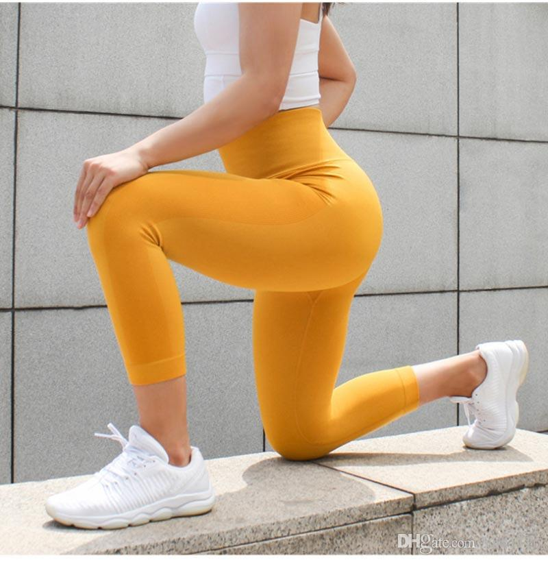191814deeae47 2019 Women Seamless Leggings Tummy Control Yoga Leggings Sport ...
