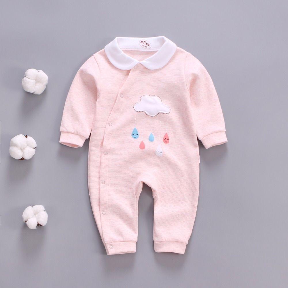 759ca2ad4 2019 BibiCola Rompers Newborn Baby Rompers Baby Girls Cotton Long ...