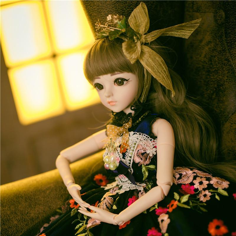 60CM BJD New Arrival Reborn With Outfit Elegant Dress Wigs Shoes Hat Makeup Beautiful Dream Girls Toys KD Dolls