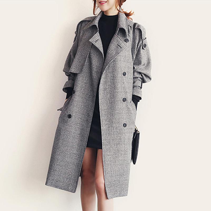 new style a98f2 89657 Cappotto di lana trench invernale da donna Cappotto invernale di lana  doppiopetto invernale Cappotto lungo da donna Cappotto lungo