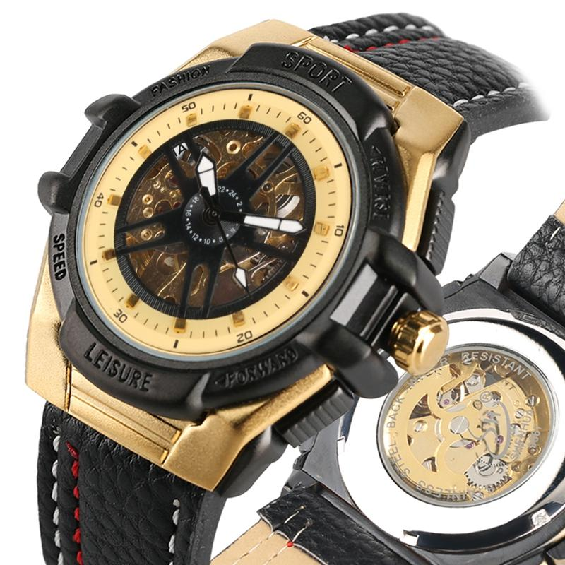 Duradero Mecánicos Acero Inoxidable Para Relojes De Pulsera Reloj Exquisito Automático Cuerda Clásicos Cuero Automática Hombre Ybfg76y