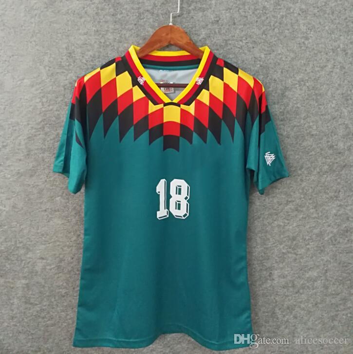 brand new 48f5a d4cdc ^_^ 1994 Retro version VINTAGE CLASSIC Germany Soccer Jersey KLINSMANN  Matthias away shirts KALKBRENNER JERSEY S-XXL football shirt