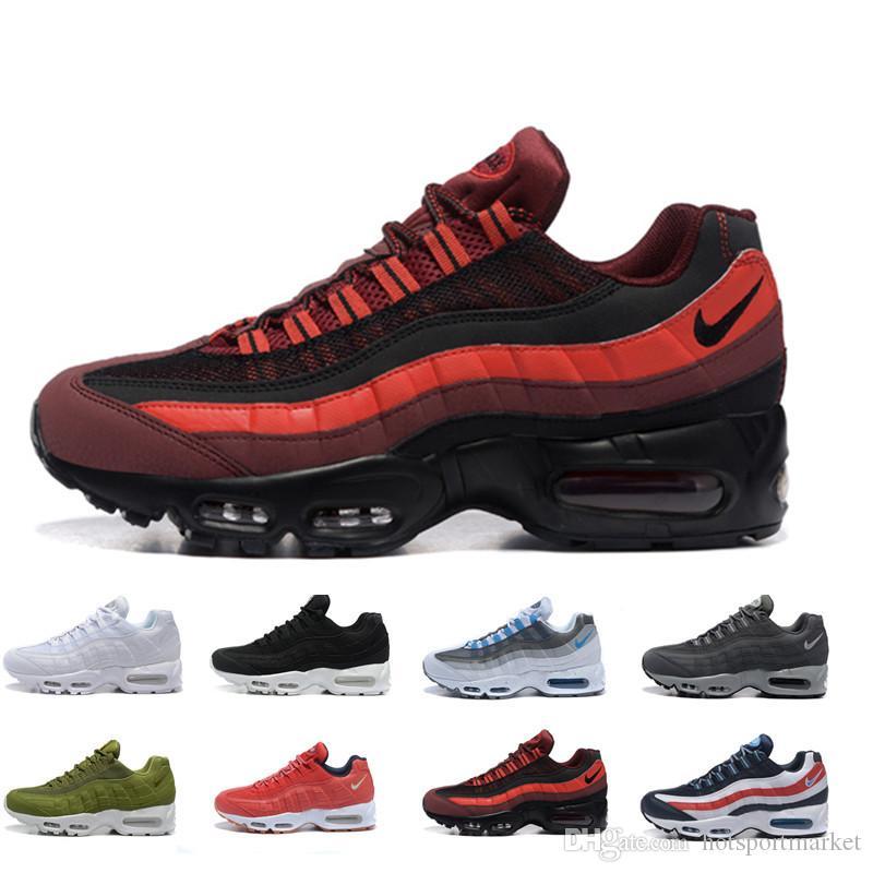 b1b24db98a2b90 2018 Hot Sale Cushion 95 Anniversary MID Mens Shoes 2017 New 95 Sneakerboot  Black Army Green Running Shoes Training Sneakers Sport Shoes White Running  Shoes ...