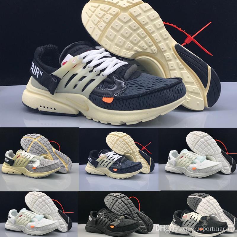 best service 6fb0f 9366a Nike Off White x Air Presto 2019 OFF Presto 2.0 Bianco Nero Uomo Scarpe da  corsa per uomo Scarpe firmate Prestos Sport Air Donna Sneakers Chaussures  ...