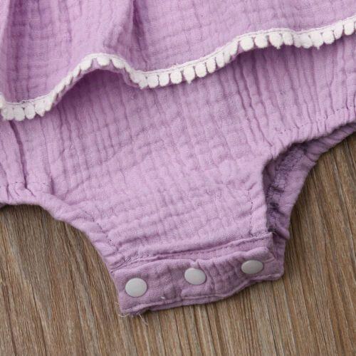 2020 Verão recém-nascidos babadores Roupa Sólidos mangas Casual Criança infantil cute Jumpsuits Outfits