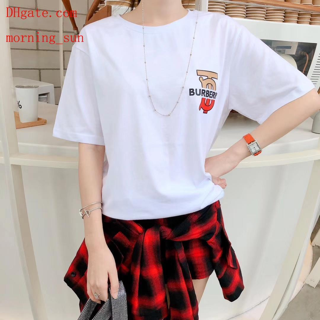 2019 fashion women brand t Shirt white letter loose cotton new t-shirt casual Tee shirts femme top quality summer women clothes BC-24