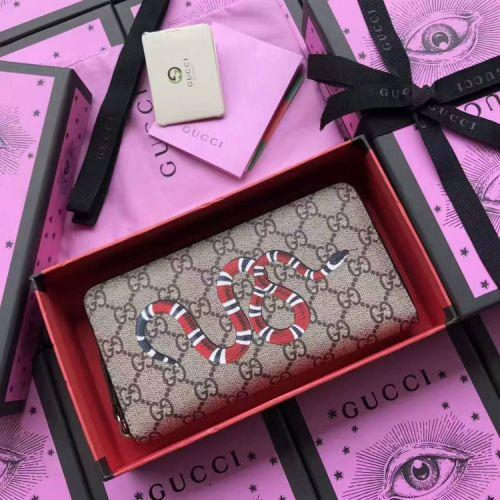 752ca0990a New PVC King Snake Print Long Zip Wallet 451273 Snake LEATHER CLUTCHES  EVENING LONG CHAIN WALLETS COMPACT PURSE