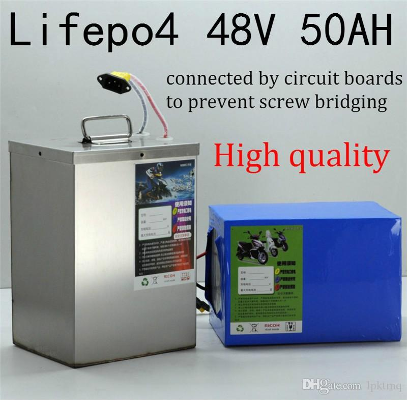 Lifepo4 battery pack 48v 50ah 2500W 2400W bateria connected by Circuit board for 48V electric tricycle motor boat car scooter