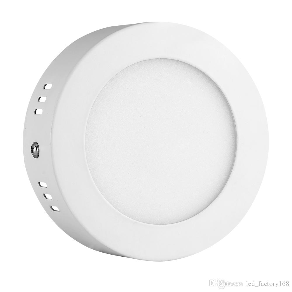 LED Panel Lights 6W LED Surface Mounted Ceiling Down Panel Lighting Natural  White Bathroom Lamp Round USA Ship