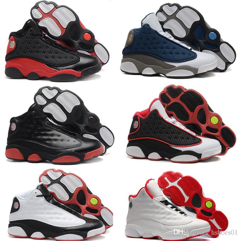 half off e760f b7fe4 Nike Air Jordan 13 2019 Moda Novo Esporte Tênis J13 Low Spurs Branco Preto  Sapatos de Basquete Esportes 13 Sports Running Shoes Tamanho 40-46