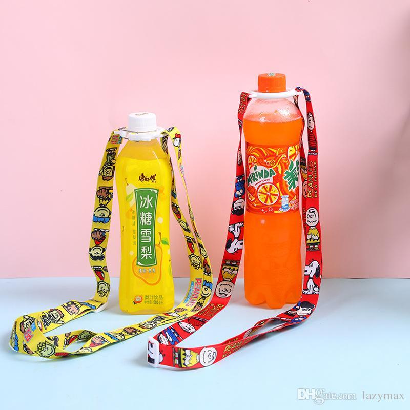 Water Bottle Shoulder Strap Bottles Rope Beverage Holder  Buckle Lanyard Portabl