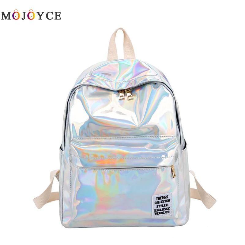 Backpacks Women Laser Hologram Pvc Backpacks Girls Shoulder School Backpack Female Leather Holographic Travel Bag Mochila Feminina Making Things Convenient For Customers Luggage & Bags