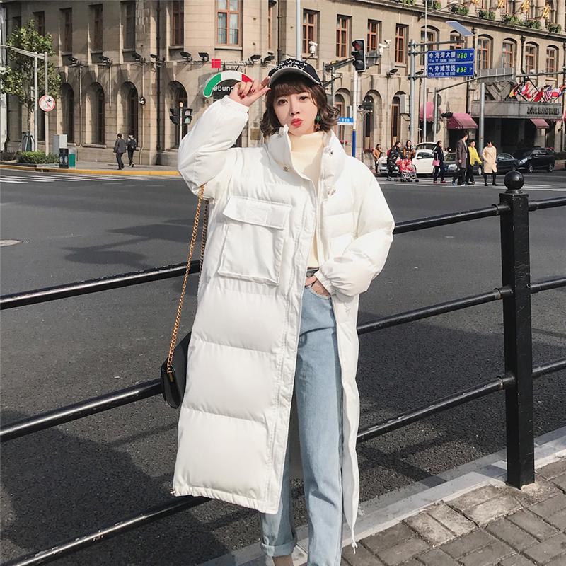 84f939c210917 2019 Winter Coat Women Long Down Jacket White Jacket Korean Plus Size Duck  Down Parka Student Fashion Loose Cotton Warm Coat Female From Camelane
