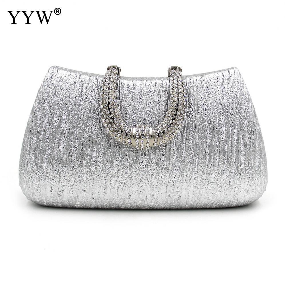 7a6907692d Free shipping!!!Satin Easy Matching Clutch BagNew Year Gift with chain &  attached with hanging strap & rhinestone Solid