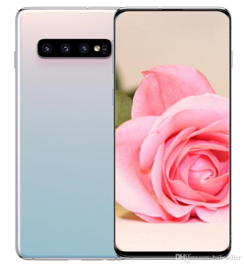 goophone S10 S10+ smartphones Unlocked dual sim Android 9.0 octa core 4G RAM 128G Shown 4G LTE 6.4 inch Cell phones