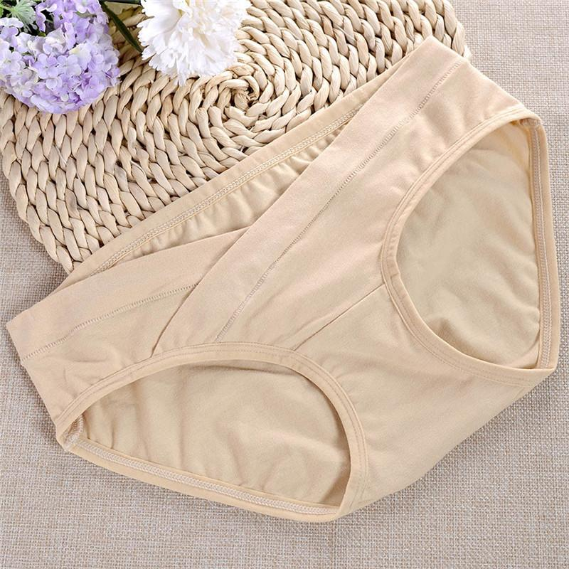 e30f8216381 2019 Intimate Portal Women Under The Bump Cotton Maternity Panties Healthy Pregnancy  Underwear S 4XL