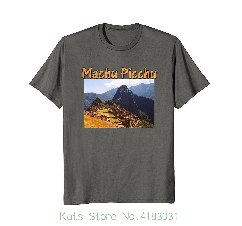 3e6778241 Machu Picchu Peru Ruins T-shirt Nouvelle Arrivée Homme Tees Casual Boy  T-shirt Haut