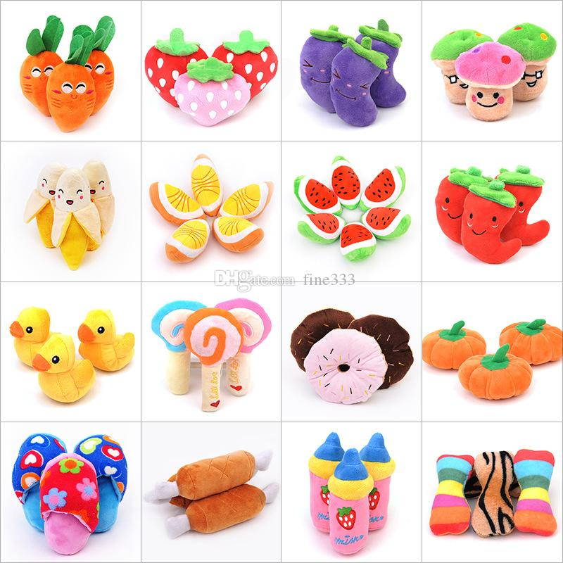Fruit Plush Toys Vegetables Design Stuffed Doll Toys Watermelon Carrot Strawberry Plush doll Best Gifts For kids Toys