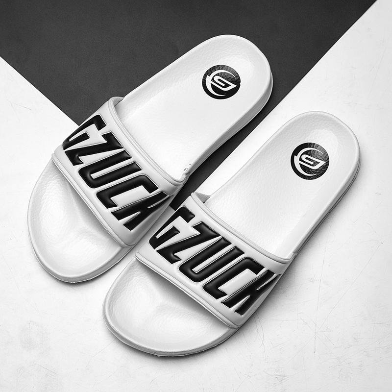 Men Slippers Men's Fashion Beach Slides Water Rubber Shoes Outside Male Flats Brand Sandals Summer Slippers