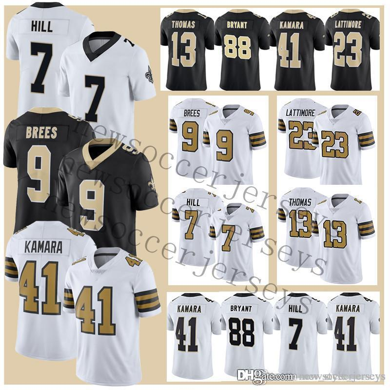 super popular f63b6 ee20e 9 Drew Brees New Orleans Men Saints jerseys 23 Marshon Lattimore 7 Taysom  Hill jersey Color Rush Limited 28 Adrian Peterson