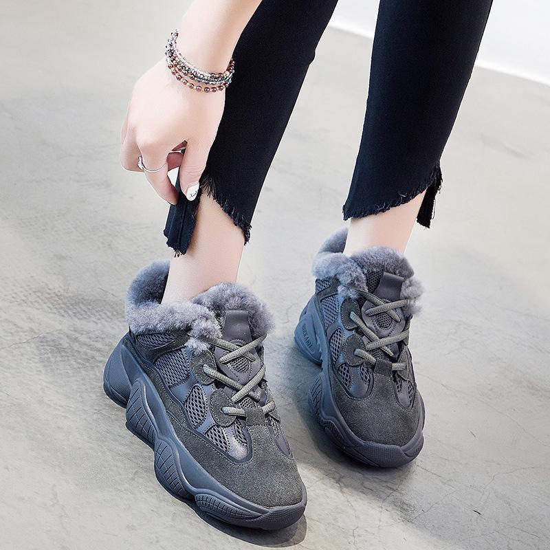 Acquista 2018 Casual Scarpe Donna Fashion Brand Platfrom Sneakers Lady  Chaussure Femminile Inverno Nuovo Footware Cross Legato Con Pelliccia A   83.56 Dal ... 66f0d18ce5a