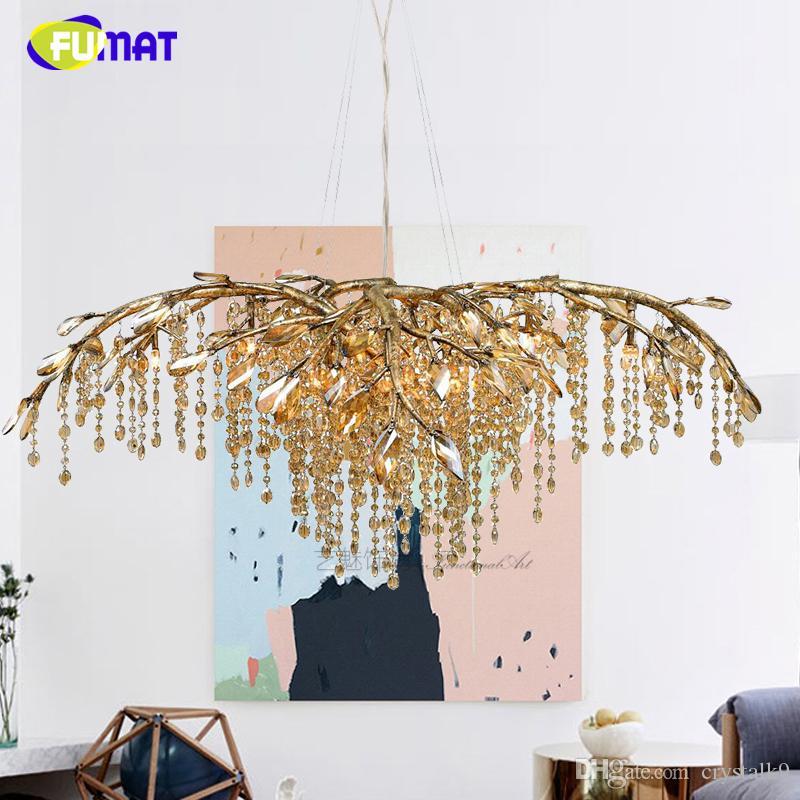 FUMAT Lampadario da soggiorno Lampadario LED Crystal Lustre Lampadario a  Led per la camera da letto Sala da pranzo Illuminazione da interno