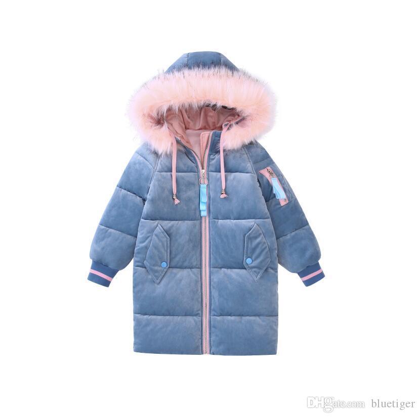 premium selection d335b 81576 Piumini invernali per bambina Piumini a maniche lunghe con scollo a cuore