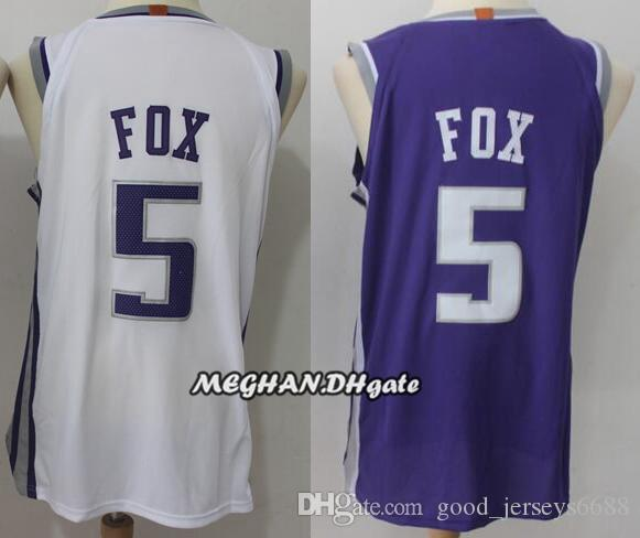 81aaaf5f26e ... best price 2018 new sacramento kings men basketball jerseys 5 de aaron  fox 100 stitched jerseys