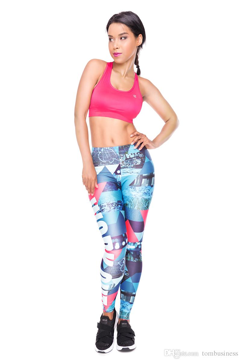 Lady Leggings Work Out Triangle Graffiti 3D Print Spring Summer Autumn Yoga Pants Girls Runner Pencil Fit Woman Sports Gym Jeggings (Y34528)