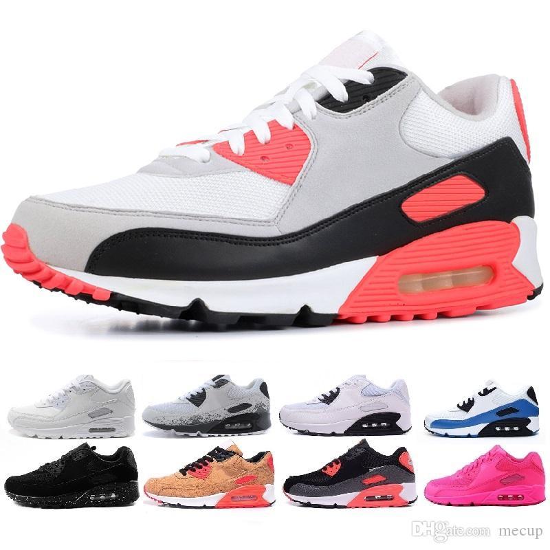 704a4ab938d3 Acheter Nike Air Max Airmax 90 Shoes Hommes Baskets Chaussures Classic 90  Hommes Et Femmes Chaussures De Course Entraîneur Sportif Surface À Coussin  D'air ...