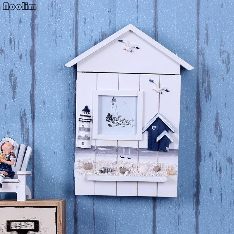 Key box holder Cool 2019 Noolim Mediterranean House Key Storage Holder Case Wall Mounted Wooden Storage Box Wall Hanging Key Boxlighthouse From Kunnylight 2167 Dhgatecom Dhgatecom 2019 Noolim Mediterranean House Key Storage Holder Case Wall Mounted
