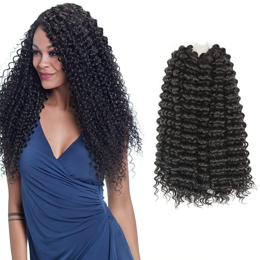 "Freetress Synthetic Water Wave 18"" 3Pieces/lot Nature Black Color Hair Extensions Bulk Crochet Latch Hook Braiding Hair for Women"