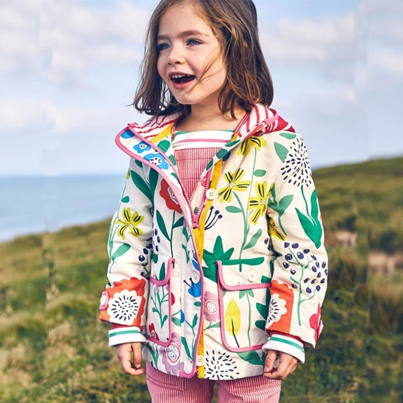f7cab22ef270 Kidsalon Girls Jackets And Coats Flower Printed Outdoor Baby Girl ...