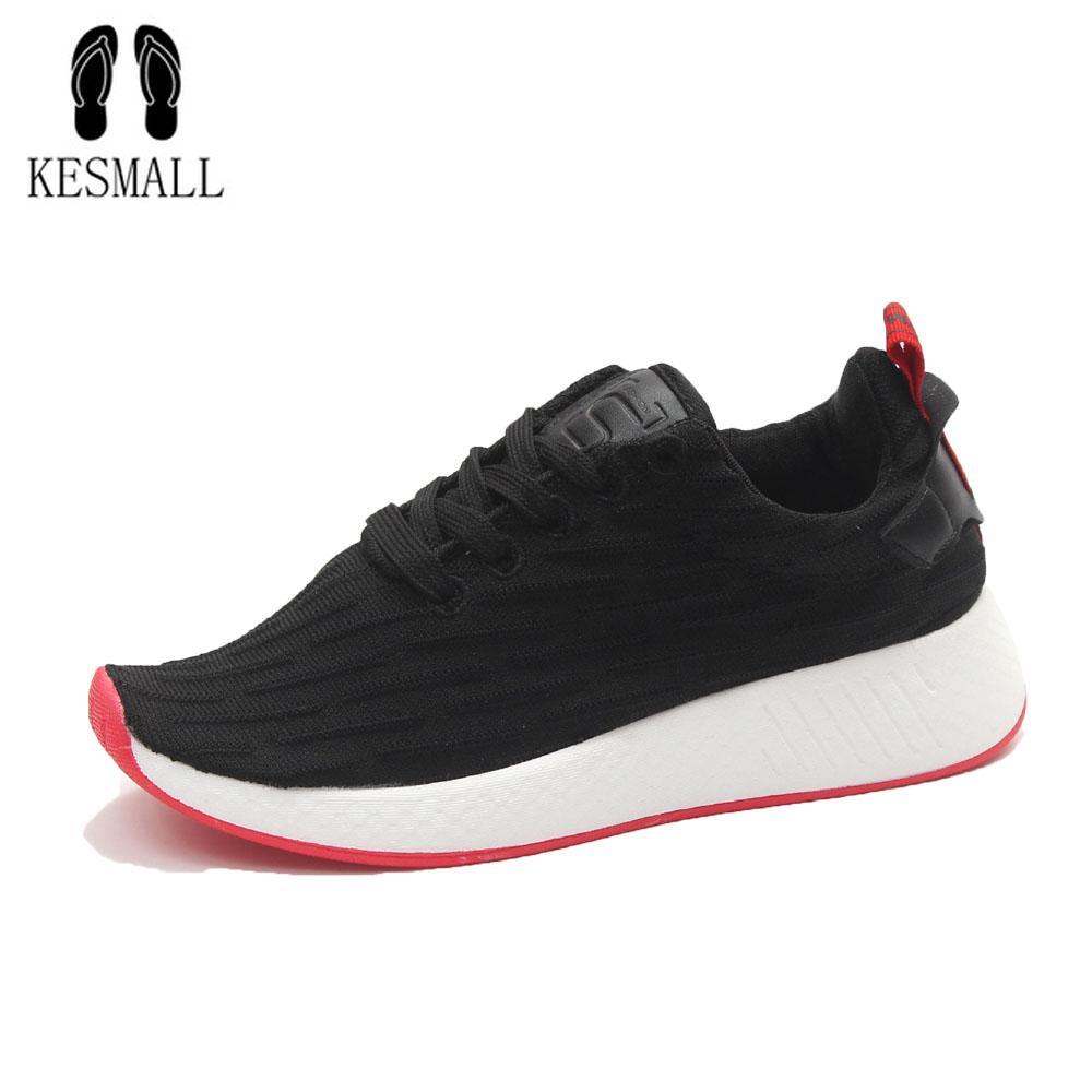 c174c6dbfa5e KESMALL Summer Red Bottom Mesh Sneakers Lightweight Black Casual Shoes for  Women Flat Mesh Tenis Feminino Shoes Size 35-40 WS541