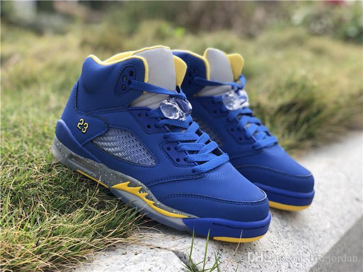 9327dbfbb013 2019 5 JSP Laney Men Designer Shoes Varsity Royal Blue Hottest 5s Light  Charcoal Varsity Maize Mens Athletic Sports Sneakers CD2720 400 From  Finejordan