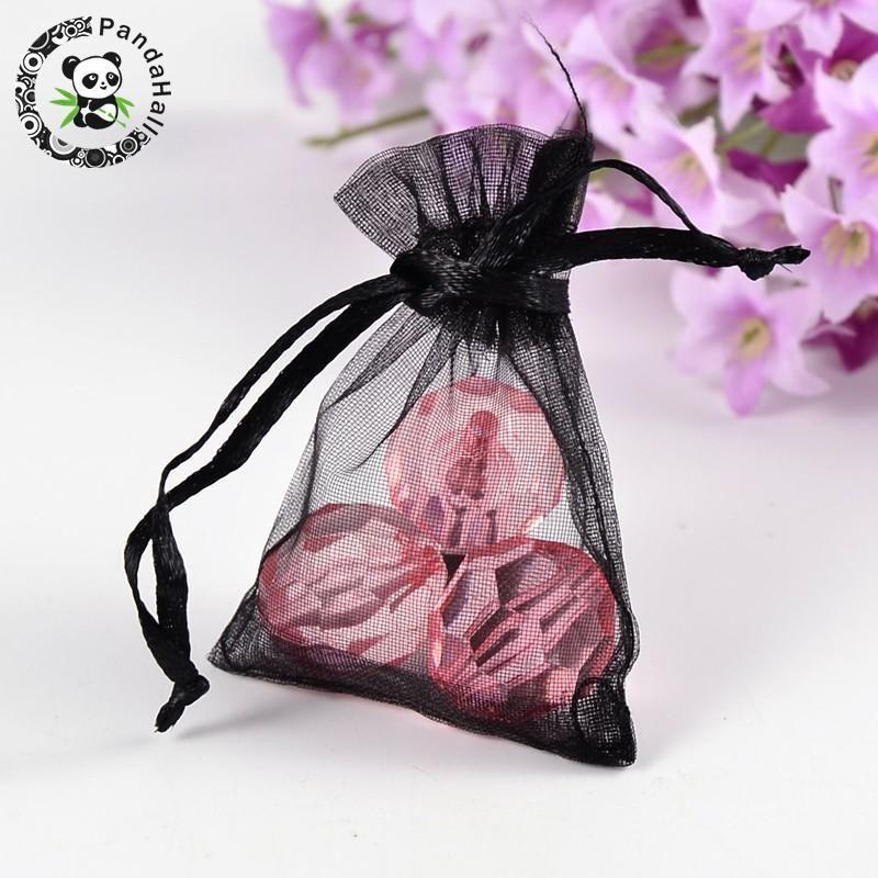 organza sacs pour bijoux emballage 7x5cm