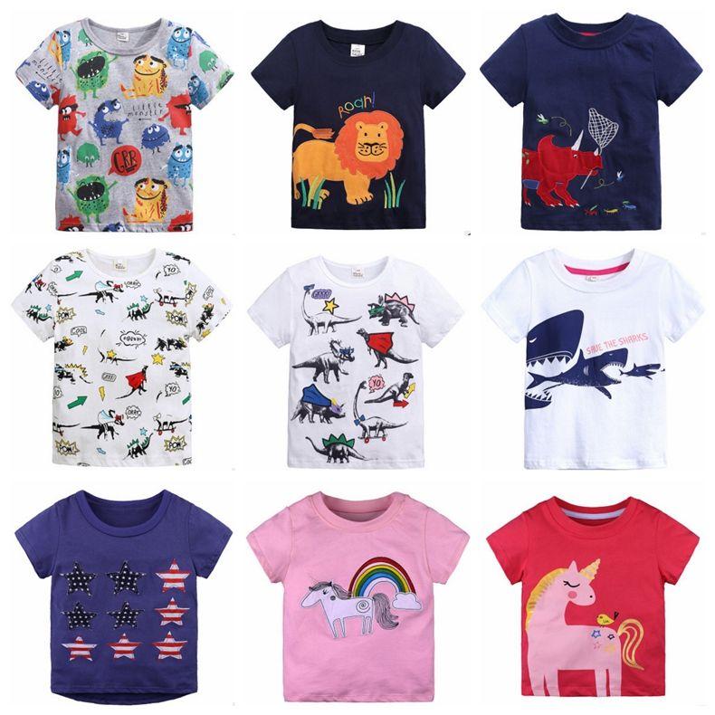 9e26b62607 Compre INS Camisas Para Bebés Apliques De Animales Camisetas Para Niños  Camisetas De Manga Corta Niños De Dibujos Animados Tops Trajes Para Niños  Ropa De ...