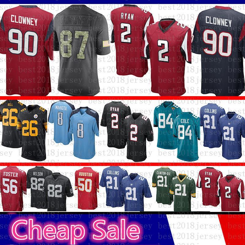 2019 Atlanta Jerseys Falcons 2 Matt Ryan Houston 90 Texans Jadeveon Clowney  2016 Salute To Service Limited New From Best2018jersey 06cb557e1