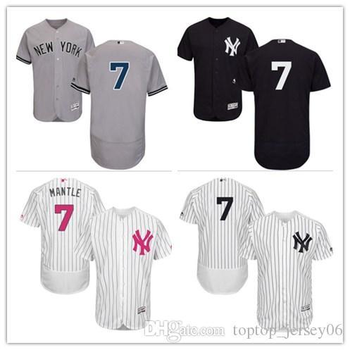 2018 New York Yankees Jerseys  7 Mickey Mantle Jerseys  Men WOMEN YOUTH Men S Baseball Jersey Majestic Stitched Professional  Sportswear UK 2019 From ... 7a36bbb394a