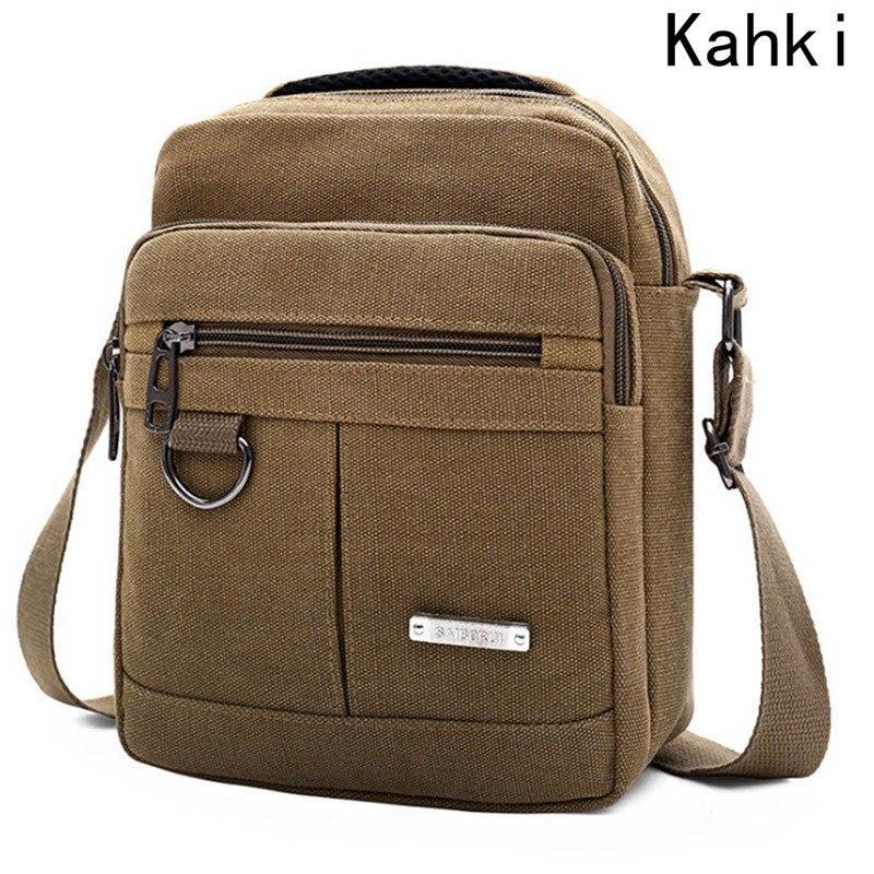 196db4fc1ed6 Fashion Men Shoulder Crossbody Bag High Quality Canvas Handbag ...