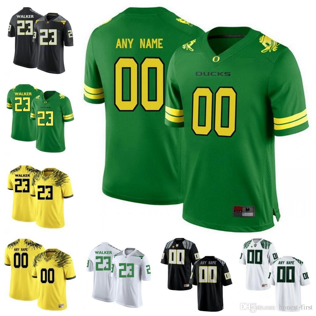 Personalizzato Oregon Ducks College Football bianco nero Apple Verde Giallo Lightning Stitched Qualsiasi nome Numero Mariota Herbert 2018 NCAA maglie