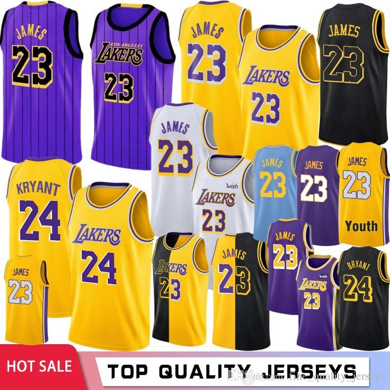 a64198221080 2019 LeBron 23 James Basketball Jerseys Kyle 0 Kuzma 2019 Los Angeles Lonzo  2 Ball Brandon 14 Ingram 8 Kobe 24 Bryant From Fine quality jerseys