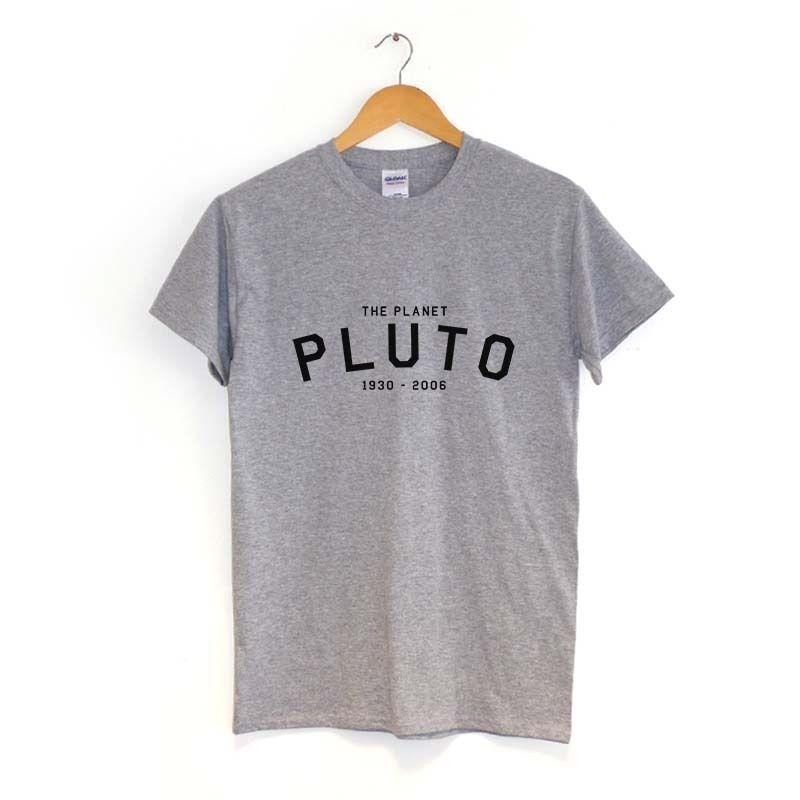 The Planet Pluto 1930 - 2006 T Shirt | Many Colours | Space Science Word Tee