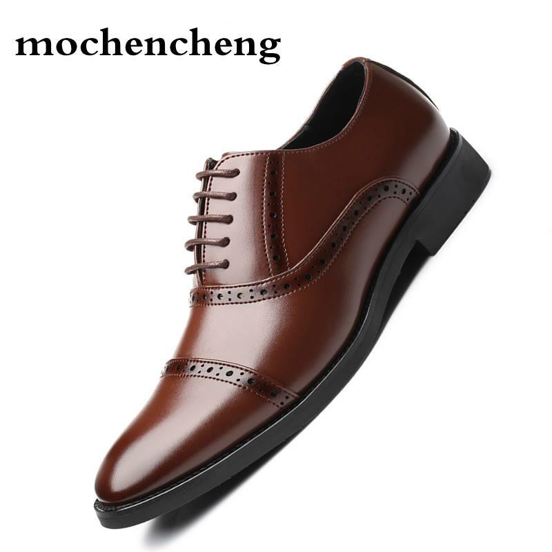 dbfd704d5de Handmade Men Dress Microfiber Leather Formal Business Men Oxfords Shoes  Men's Flats for Party Wedding Formal Shoes Cheap Formal Shoes Handmade Men  Dress ...